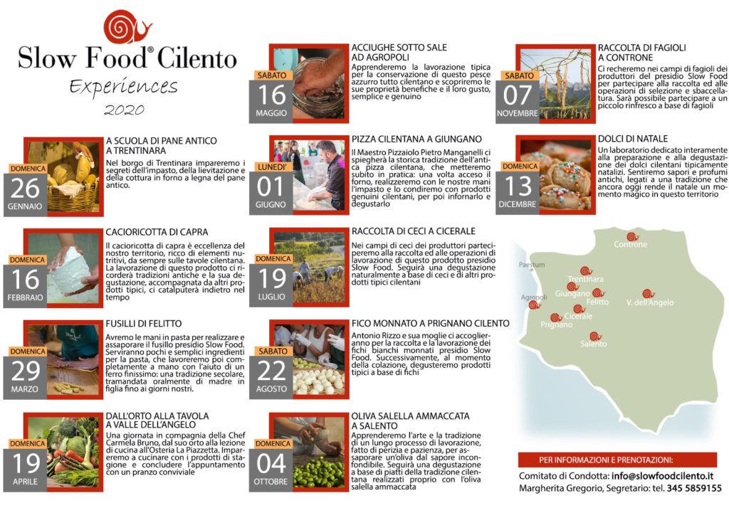 slow food cilento experience 2020